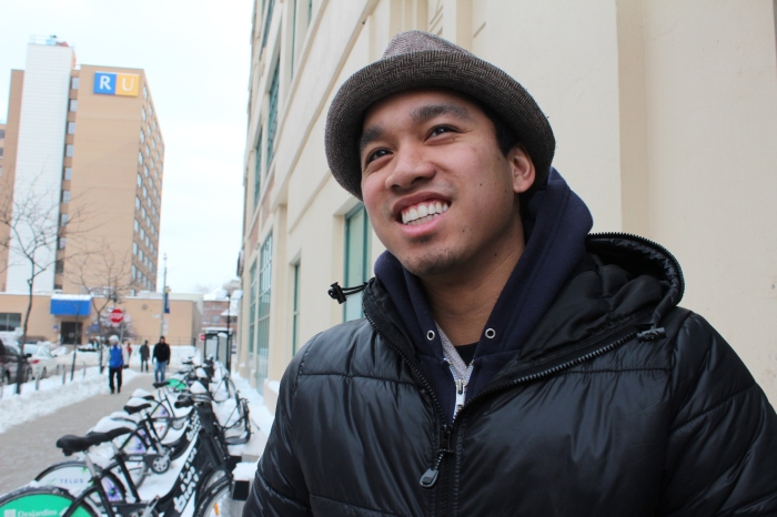 """Oh it hasn't started yet? I can never really find it on TV"" Patrick Garcia, 3rd Year, Public Health and Safety, Ryerson"
